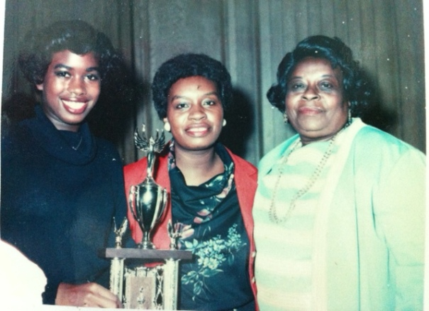 Miki Wright with Mom and Grandma